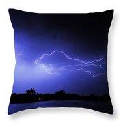 Blue Shark Throw Pillow