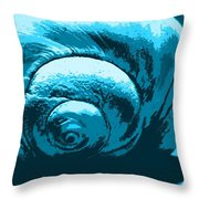 Blue Shell - Sea - Ocean Throw Pillow