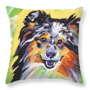 Blue Sheltie Throw Pillow
