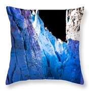 Blue Shivers Throw Pillow