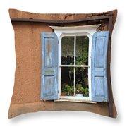 Blue Shutters Throw Pillow