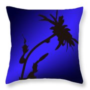 Blue Silhouette Throw Pillow