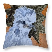 Blue Silky Nugget Throw Pillow
