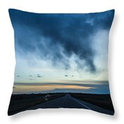 Blue Skies Above Throw Pillow