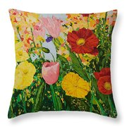 Blue Skies And Sunshine Throw Pillow
