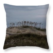 Blue Skies At The Dunes Throw Pillow