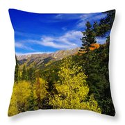 Blue Skies In Colorado Throw Pillow