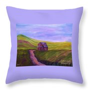 Blue Skies In The Hill Country Throw Pillow
