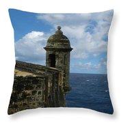 Blue Skies On The Horizon Throw Pillow