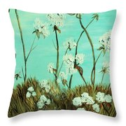 Blue Skies Over Cotton Throw Pillow