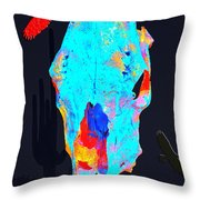 Blue Skulls At Dusk Throw Pillow