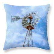 Blue Sky Aermotor Windmill Throw Pillow