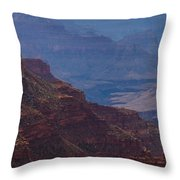 Blue Sky And Red Mountains Throw Pillow