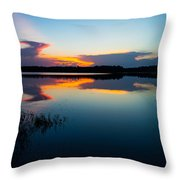 Blue Sky And Water Throw Pillow
