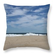 Blue Sky And Waves Throw Pillow