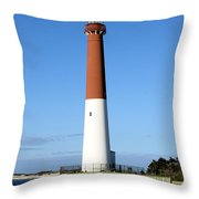Blue Sky Blue Sea  And Barnegat Light Throw Pillow