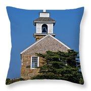 Blue Sky Chapel Throw Pillow