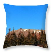 Blue Sky - Cliff - Trees Throw Pillow