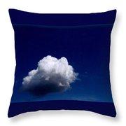 Blue Sky Cloud Throw Pillow
