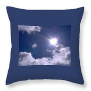 Blue Sky Clouds And Sunshine Throw Pillow