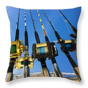 Blue Sky Rods Throw Pillow