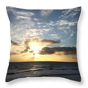 Blue Sky Sunrise Throw Pillow