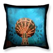 Blue Sky Swings Throw Pillow