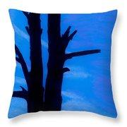 Blue Sky Tree Throw Pillow