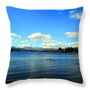 Beautiful English View Throw Pillow