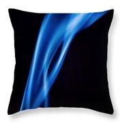 Blue Smoke  Abstract  Throw Pillow