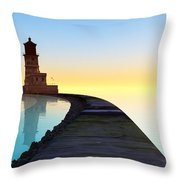 Blue Smooth Throw Pillow