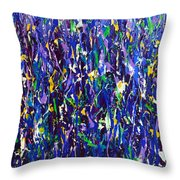 Blue Snapdragons Throw Pillow