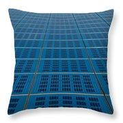 Blue Solar Panel Collector View Throw Pillow