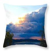 Blue Soundscape Throw Pillow