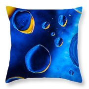 Blue Space Ice Throw Pillow