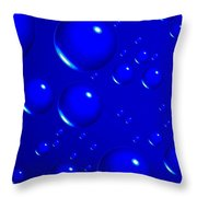 Blue Sphere-abstract Throw Pillow