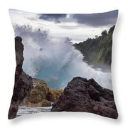 Blue Splash Throw Pillow