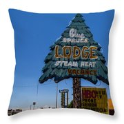 Blue Spruce Lodge Throw Pillow