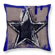 Blue Star Abstract Throw Pillow