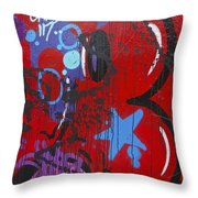 Blue Star Graffiti Nyc 2014 Throw Pillow