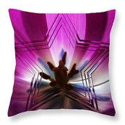 Blue Star Tulip Design 2 Throw Pillow