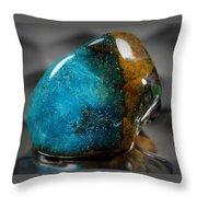 Blue Stone Throw Pillow