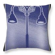 Blue Street Lights Throw Pillow