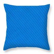 Blue Striped Diagonal Textile Background Throw Pillow