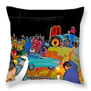 Blue Suede Shoes Posterized Throw Pillow