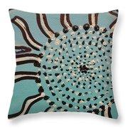 Blue Sun Tangle Throw Pillow