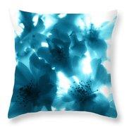 Blue Sunlight Fusion Throw Pillow