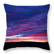 Blue Sunrise In West Texas Throw Pillow