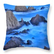Blue Sunset At The Mermaid Reef Throw Pillow