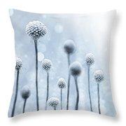 Blue Sunshine Throw Pillow